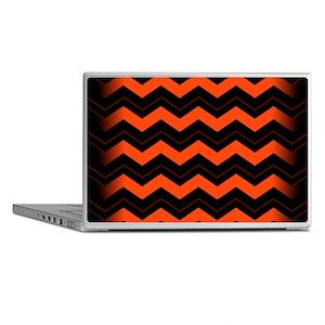 Orange and Black Chevron Laptop Skins