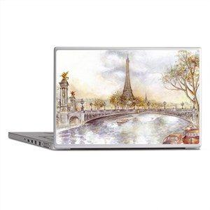 Eiffel Tower Painting Laptop Skins