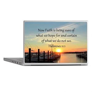 HEBREWS 11:1 Laptop Skins