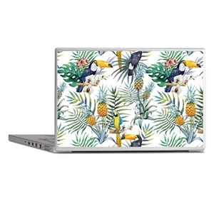 Macaw Tropical Birds and Plants Laptop Skins