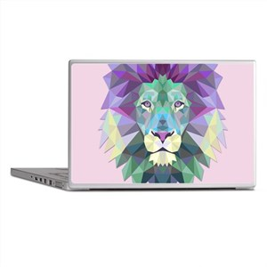 Triangle Colorful Lion Head Laptop Skins