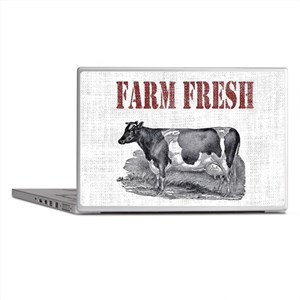 Country Chic Cow Farmhouse Laptop Skins