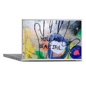 You Are Beautiful Graffiti Laptop Skins