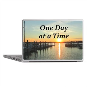 ONE DAY AT A TIME Laptop Skins
