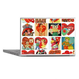 vintage valentines day cards feb Laptop Skins