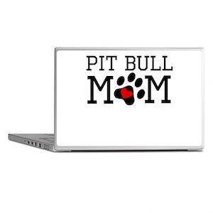 Pit Bull Mom Laptop Skins