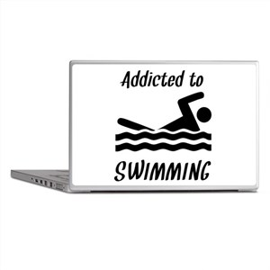 Addicted To Swimming Laptop Skins
