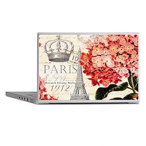 Paris hydrangea Laptop Skins