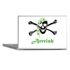 Arrish Irish Pirate Skull And Crossbones Laptop Sk