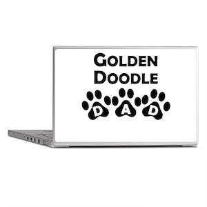 Goldendoodle Dad Laptop Skins
