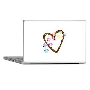 paw hearts Laptop Skins