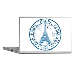 Paris travel stamp Laptop Skins