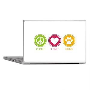 Peace - Love - Dogs 1 Laptop Skins
