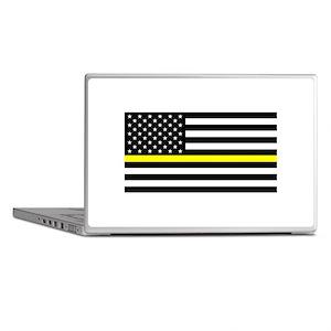 U.S. Flag: Black Flag & The Thin Yell Laptop Skins