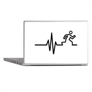 Runner frequency Laptop Skins