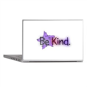 Be Kind with Colorful Text and Purple Star Laptop