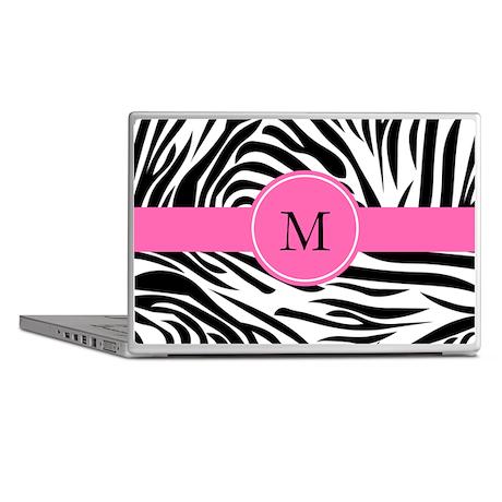 Monogram Black and White Zebra Print Laptop Skins