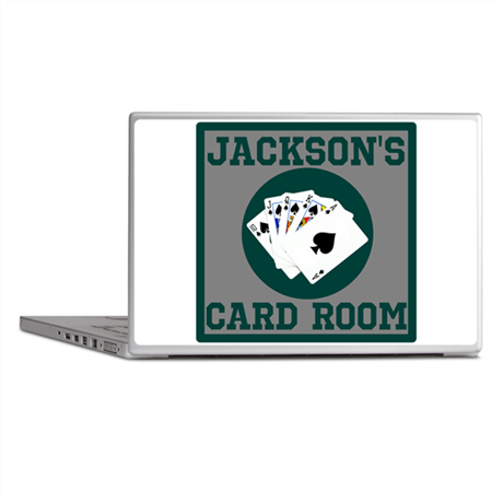 Personalized Card Room Laptop Skins