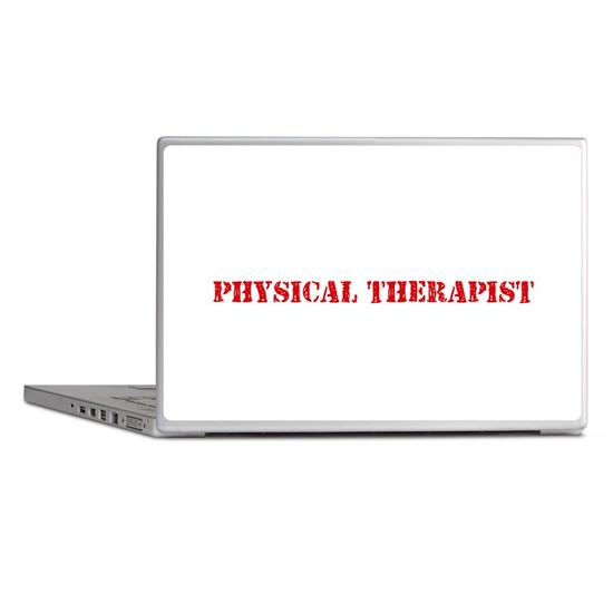 Physical Therapist Red Stencil Design