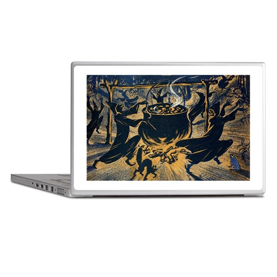 Vintage Halloween Witches Laptop Skins