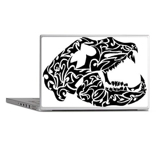 Bear Skull Tribal Tattoo Laptop Skins