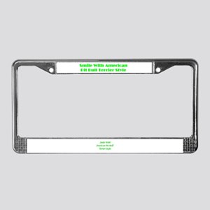 Smile With APBT Style License Plate Frame