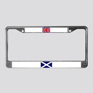 Scottish & Union Jack Flags License Plate Frame