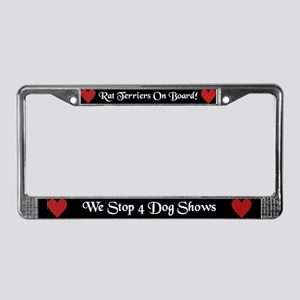 Rat Terriers on Board License Plate Frame