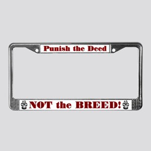 Anti-BSL Red and White License Plate Frame