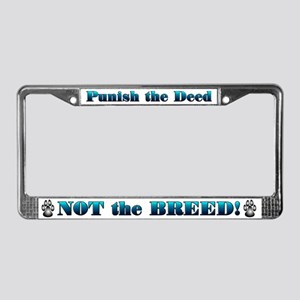 Blue Anti-BSL License Plate Frame