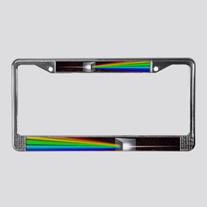 Space Prism Rainbow Spectrum License Plate Frame