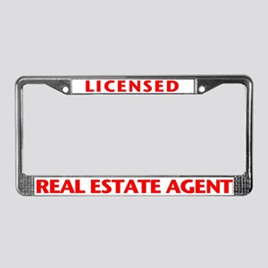 LICENSED (Red) License Plate Frame