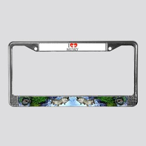 I fish Musky License Plate Frame