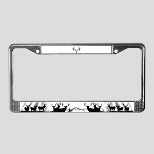 Drop tine buck skull License Plate Frame