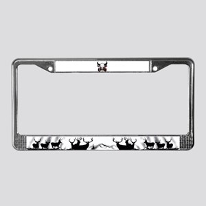 Buffalo skull and roses 3 License Plate Frame