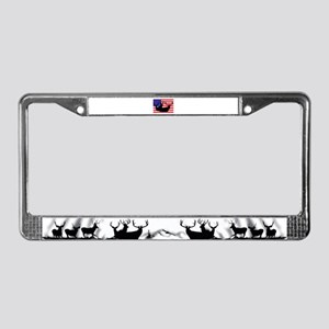 Patriotic hunter License Plate Frame