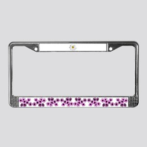 White daisy License Plate Frame