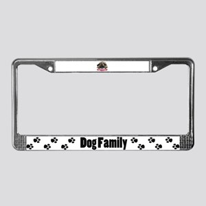Puggerd out License Plate Frame
