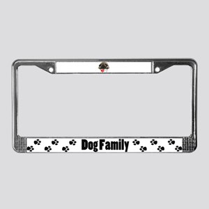 I love pugs License Plate Frame