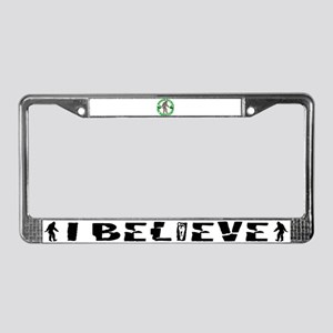 Rather be Squatchin G License Plate Frame