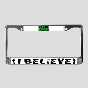 Keep it Squatchy green License Plate Frame