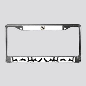 Montana deer skull License Plate Frame