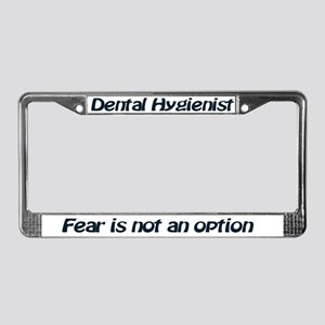 License Plate Frame- DH- Fear is not an option