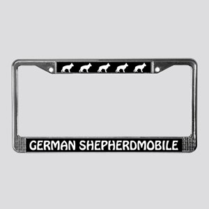 German Shepherdmobile License Plate Frame