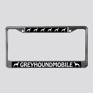 Greyhoundmobile License Plate Frame