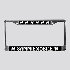Sammiemobile (Samoyed) License Plate Frame