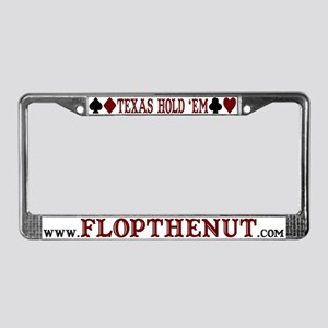 Texas Hold 'em Poker License Plate Frame