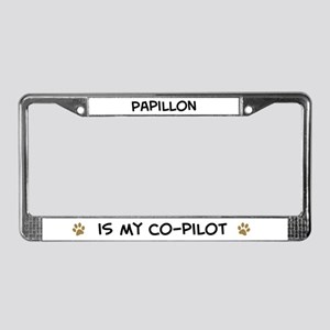 Co-pilot: Papillon License Plate Frame
