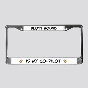 Co-pilot: Plott Hound License Plate Frame