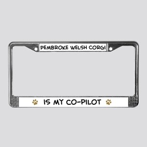 Co-pilot: Pembroke Welsh Corg License Plate Frame